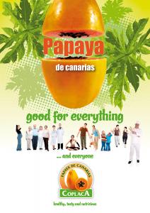Cartel Papaya Ingles 75x106