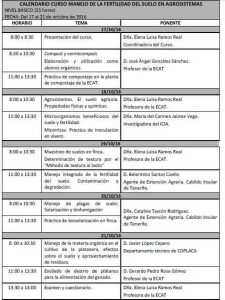 Colaboración de COPLACA en curso «Fertilidad de suelo»